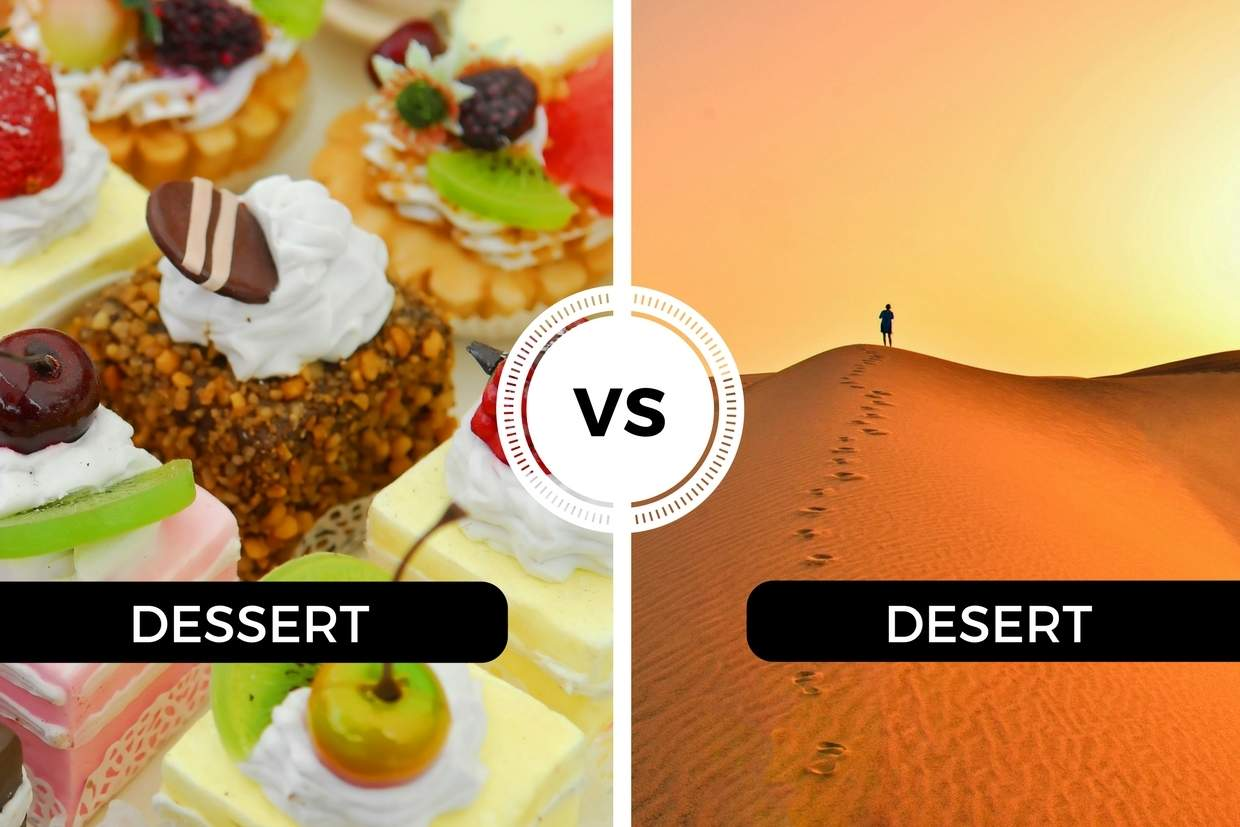 Image result for DESERT VS DESSERT