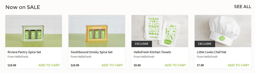 HelloFresh Extras