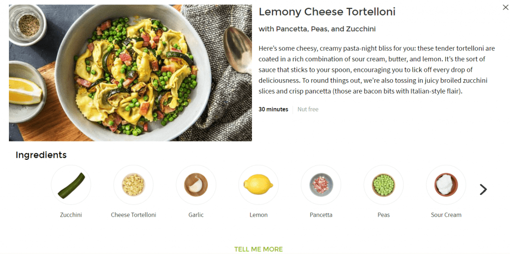 HelloFresh Recipe Details