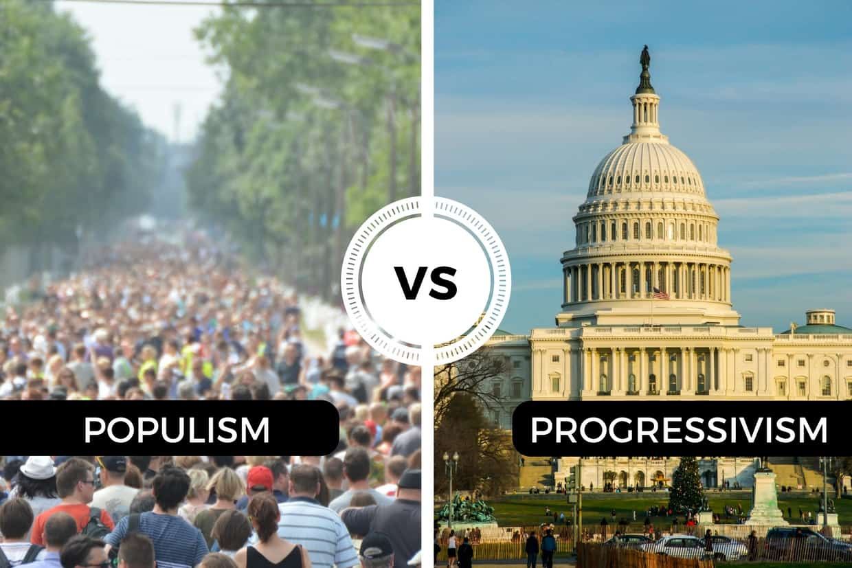 populism and progressivism This site might help you re: compare and contrast the populist and progressive movements how did the populists see the nation and american society.