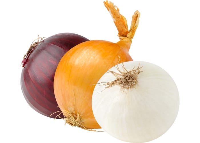 Red onion, yellow onion, white onion